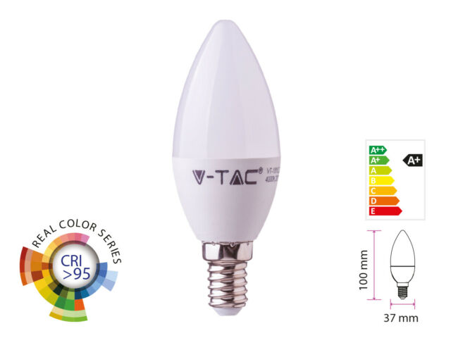 Lux lcc lampada a led e14 cri 95 cw 470lm caldo