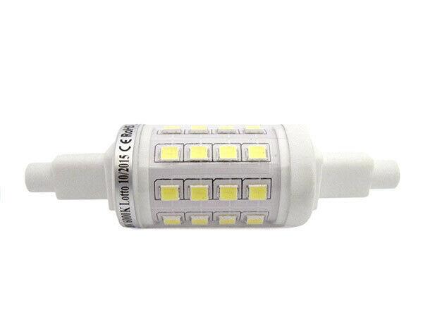 Lux rsc lampada led r7s 360 gradi 78mm 5w=55w bianco