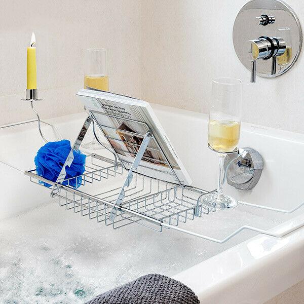 Supporto in metallo per vasca da bagno per accessori