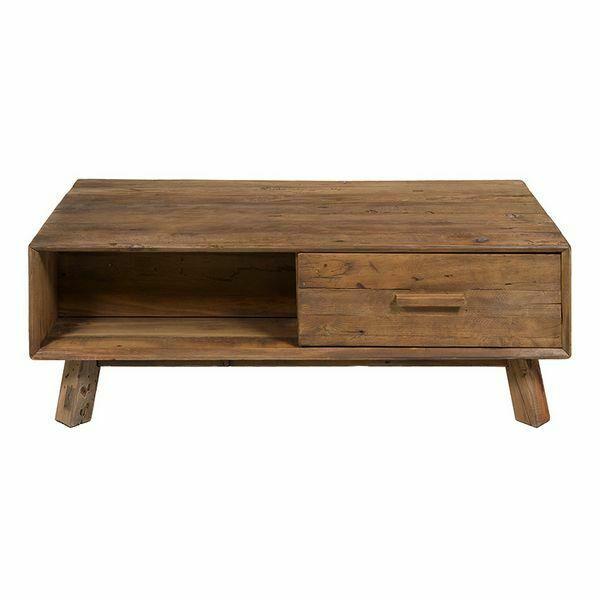 Tavolino da caffè (120 x 60 x 63 cm) legno riciclato