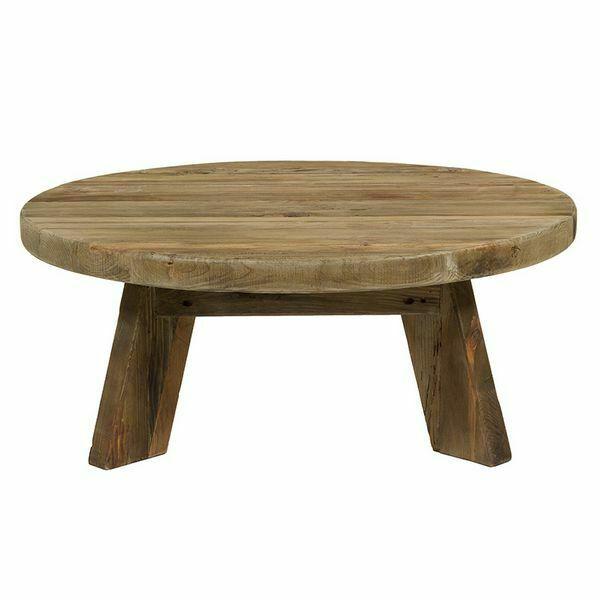 Tavolino da caffè (90 x 90 x 35 cm) legno riciclato