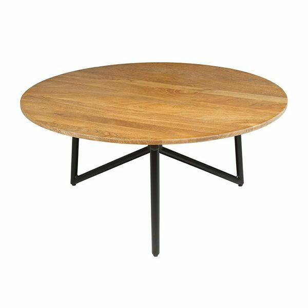 Tavolino da caffè (90 x 90 x 40 cm) rotunda legno di mango