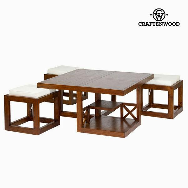 Tavolino da caffè legno di mindi (90 x 90 x 45 cm) -