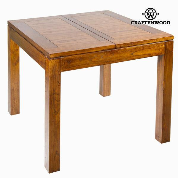 Tavolo allungabile legno di mindi (90 x 90 x 79 cm) -