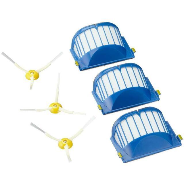 kit filtri + spazzole laterali per roomba serie 600
