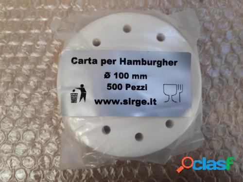Carta per hamburger da 100 mm Confezione per 500 Pezzi per