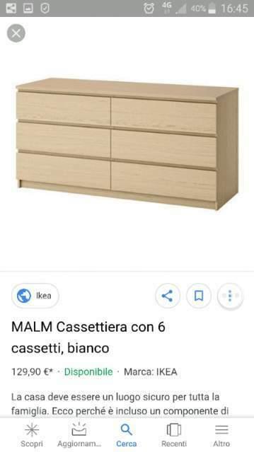 Cassettiera Ikea Malm Usata.Cassettiera Malm Ikea Bianca 40 Euro Posot Class
