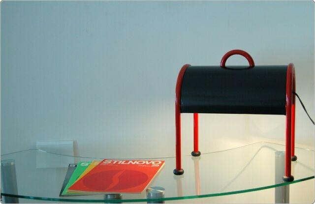 Lampada da Tavolo STILNOVO Mod. VALIGIA - Design E. Sottsass