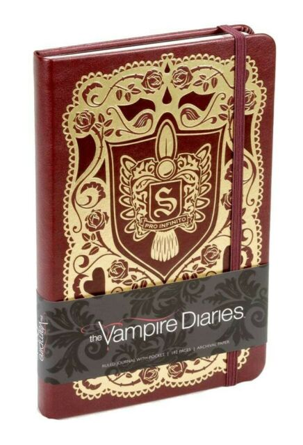 Gw jm vampire diaries hardcover ruled journal logo -