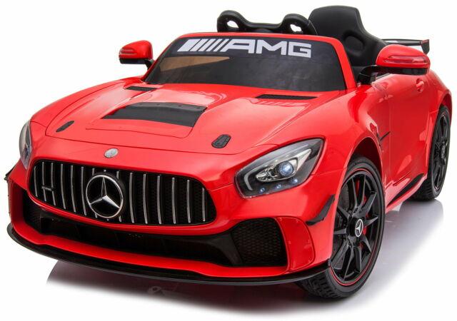 Macchina Elettrica Per Bambini 12v Mercedes Gt4 Amg Rossa