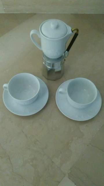Caffettiera vintage con bricco Mulino Bianco da 4 tazze
