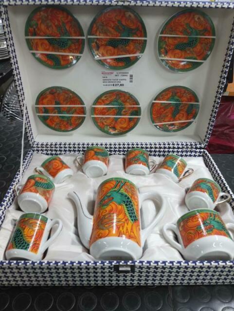 Servizio tazze giapponesi arancio drago da 6