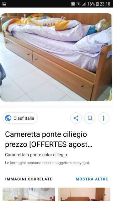 Vendo letto color noce con sotto letto estraibile
