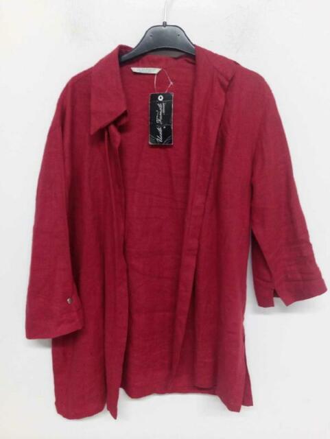 Camicia uomo glenfield rosso lino