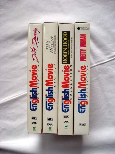 4 Film VHS in lingua originale inglese