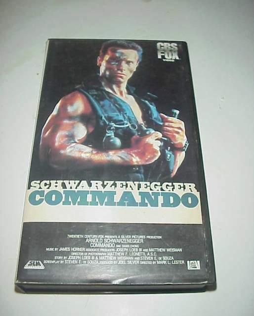 Commando schwarzenegger vhs videocassetta film cbx fox rara