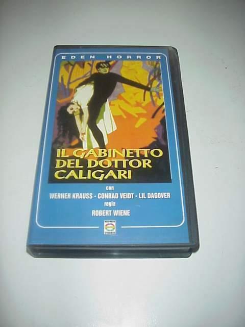 Il Gabinetto del dottor Caligari film vhs videocassetta