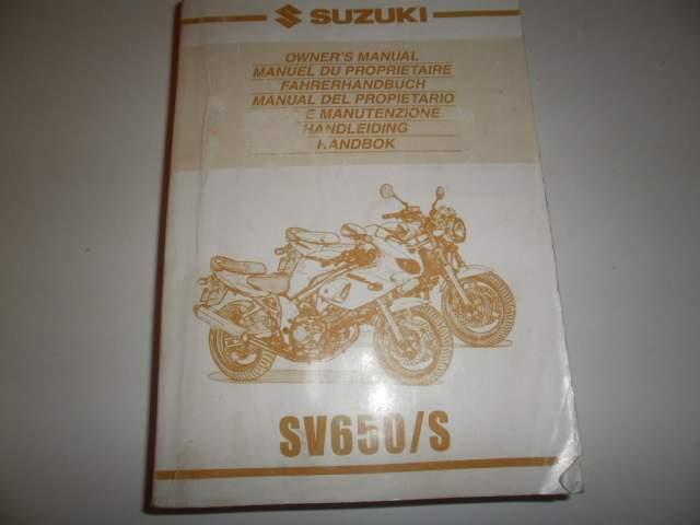 Libretto uso manutenzione originale suzuki sv 650/s