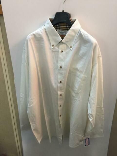 Camicia uomo burberry bianca sporca tg.