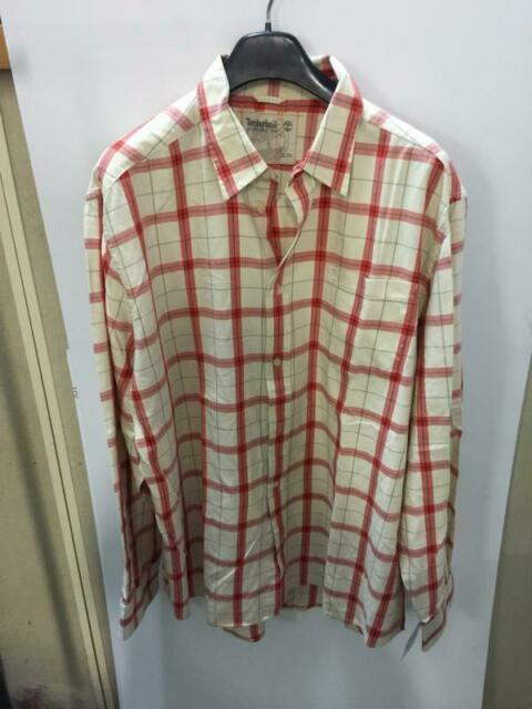 Camicia uomo timberland beige quadri rossi tg. xl