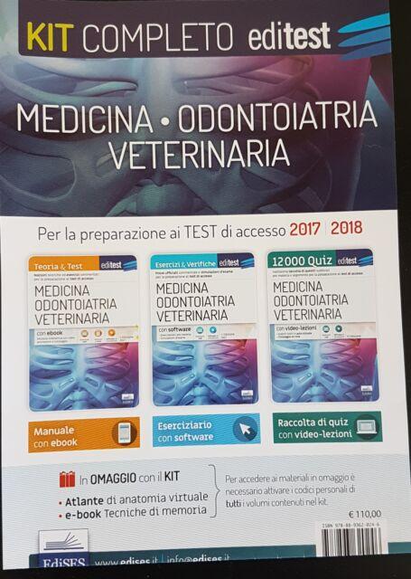 Editest kit completo preparazione test medicina
