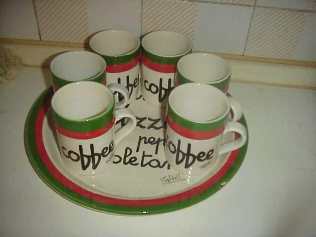 Baldelli servizio tazze caffe piatto pizza vintage ceramiche