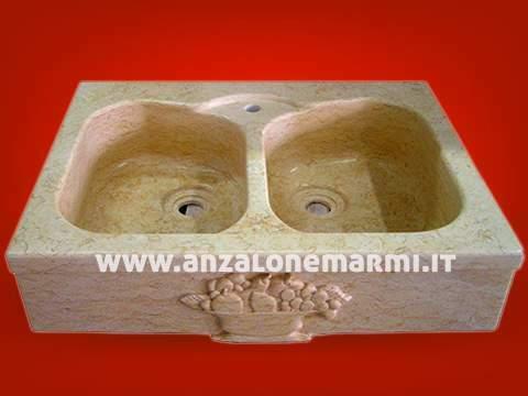 Lavello monoblocco in marmo