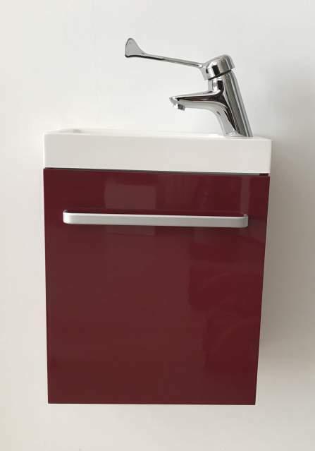Mobile lavabo piccolo rosso