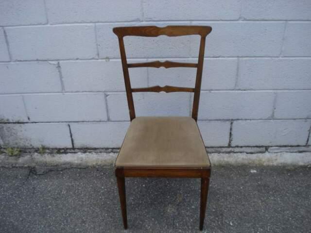 Sedie in Legno e Tessuto Vintage