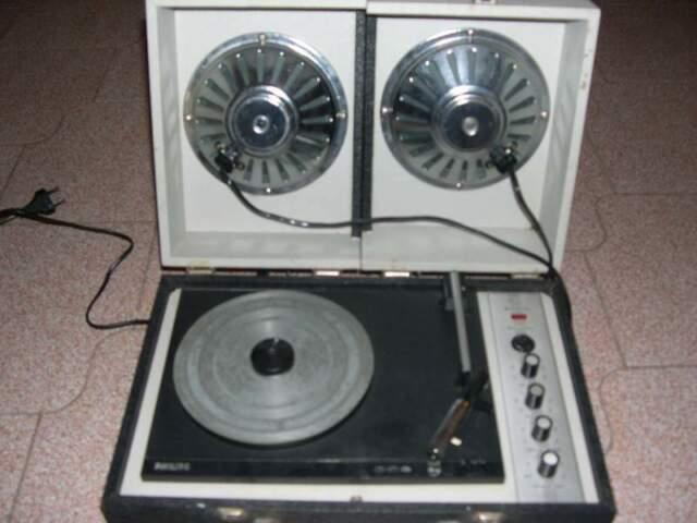 Fonovaligia giradischi philips stereo anni 60
