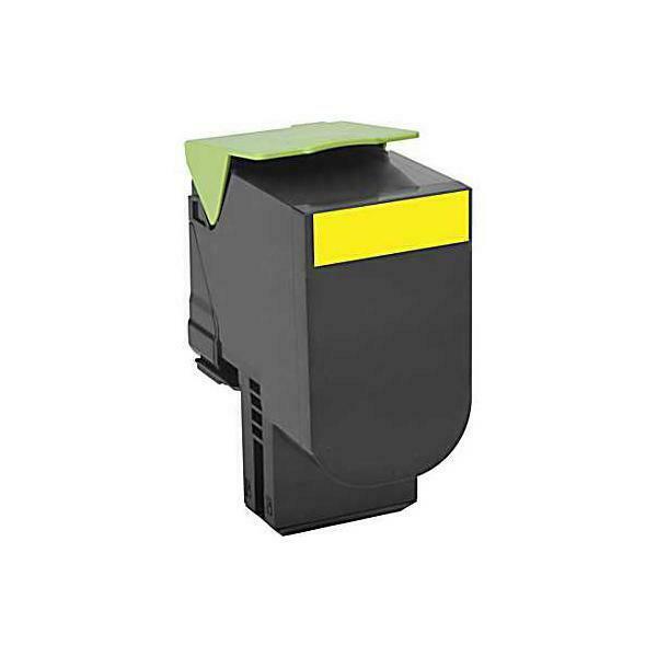Lexmark 80c0h40 cartuccia toner original giallo 1 pezzo(i)