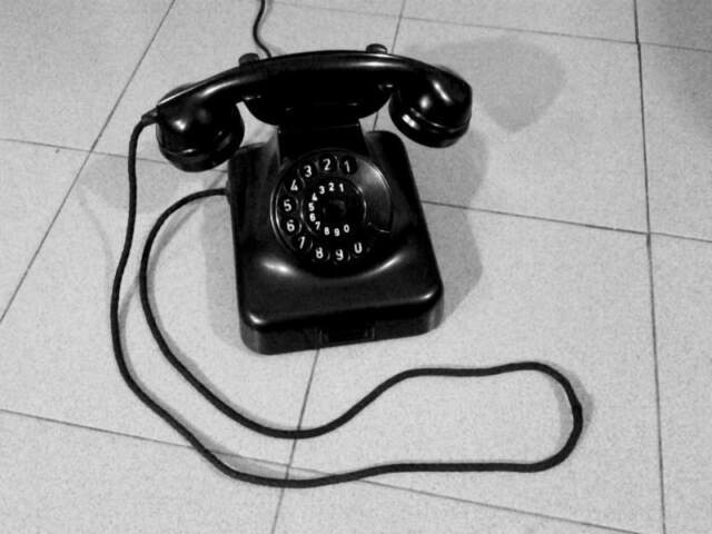 Telefono fisso antico W48 retro vintage modernariato