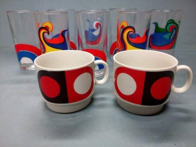 Set Bicchieri e Tazze - Vintage anni 60 - Optical Design