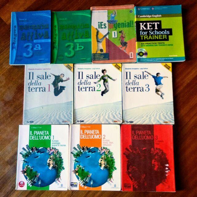 Libri scuole medie in ottime condizioni (meno di metà