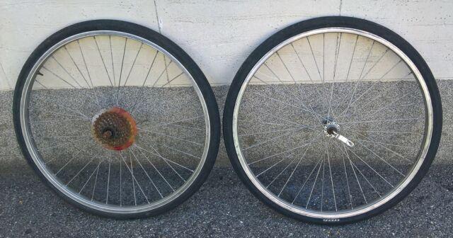 """2 ruote bici bicicletta da 26"""" complete cassetta"""