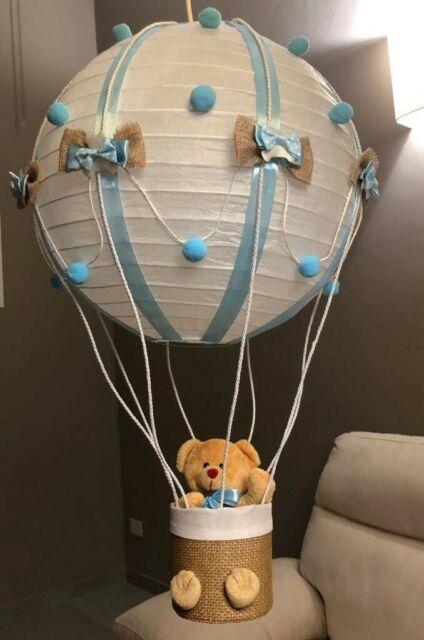 Lampadario mongolfiera bimbo bimba caneretta