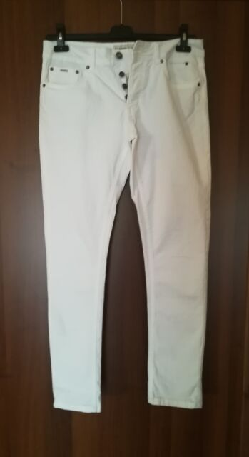 Pantalone Jeans bianco uomo taglia 46