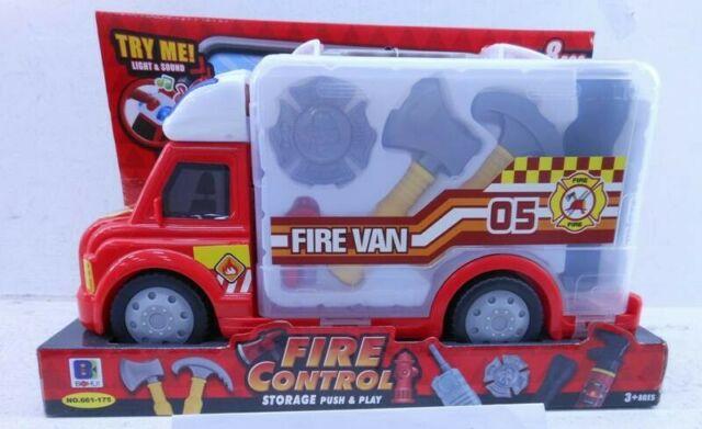Gw jm camion valigetta pompieri con accessori b.o. -