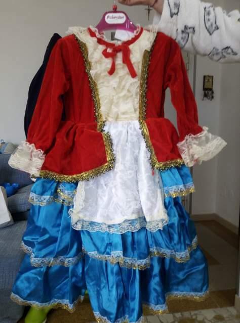 """Vestito carnevale bambina di 4 anni """"Colombina"""""""