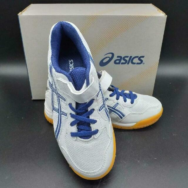 Scarpe bambino tennis asics bianche blu
