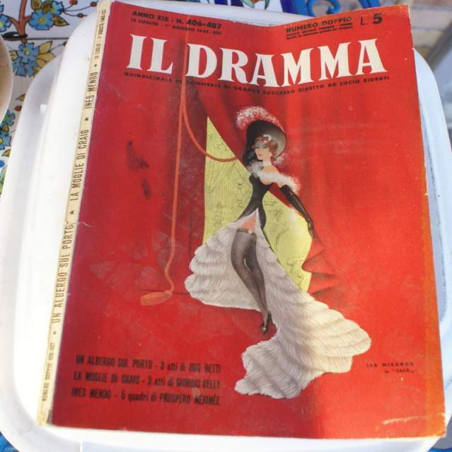 """4 numeri rivista teatrale """"Il Dramma"""" del"""