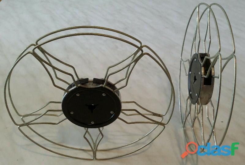Due (2) bobine in alluminio da 120 metri x Eumig Proiettore