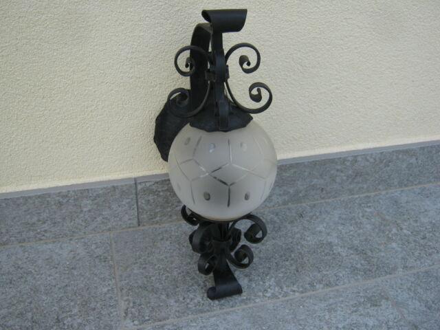 Lampada vintage in ferro battuto