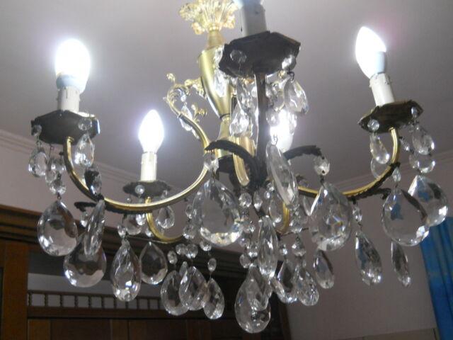 Lampadario 5 luci restaurato