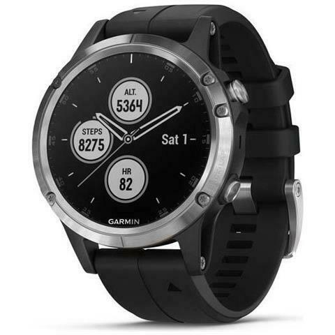 Garmin fenix 5 plus gps-multisport-smartwatch silber mit