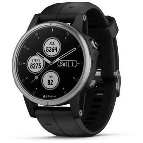 Garmin fenix 5s plus gps smartwatch silber mit schwarzem