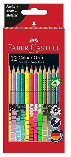 Gw jm astuccio 12 pastelli a matita colori pastello e