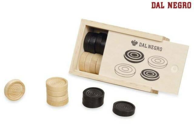 Gw jm dal negro  - set pedine in legno 28 mm -