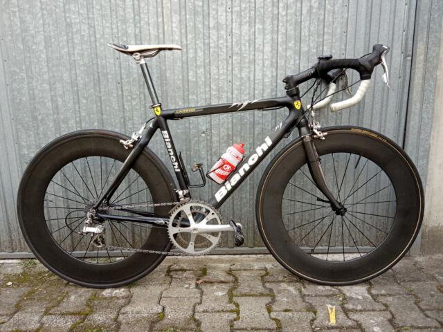 Bici da corsa BIANCHI nera telaio carbonio