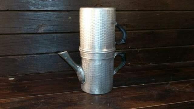 C37 caffettiera riuso napoletana martellata 6tz alluminio